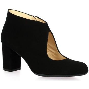 Chaussures Femme Bottines Brenda Zaro Boots cuir velours Noir