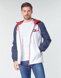 Kleidung Herren Jacken Tommy Jeans TJM COLORBLOCK ZIPTHROUGH JCKT Weiß / Blau / Rot