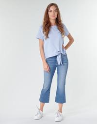 Vêtements Femme Jeans droit Tommy Jeans KATIE CROP FLARE Bleu Medium