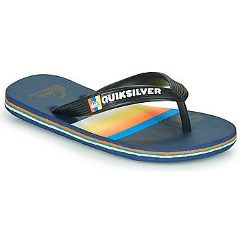 Schuhe Kinder Zehensandalen Quiksilver MOLOKAI SLAB Blau / Orange