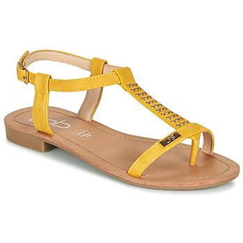 Schuhe Damen Sandalen / Sandaletten Les Petites Bombes EMILIE Senfgelb