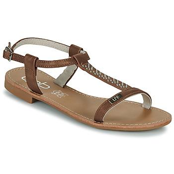 Schuhe Damen Sandalen / Sandaletten Les Petites Bombes EMILIE Kamel