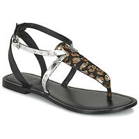 Schuhe Damen Sandalen / Sandaletten Les Petites Bombes ALIX Silbrig