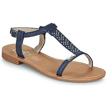 Schuhe Damen Sandalen / Sandaletten Les Petites Bombes EMILIE Marineblau
