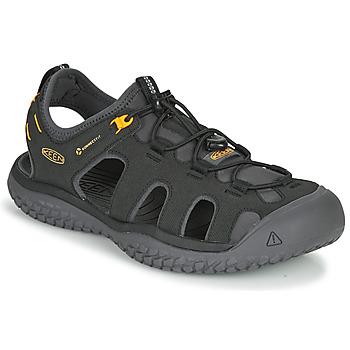 Chaussures Homme Sandales sport Keen SOLR SANDAL Noir