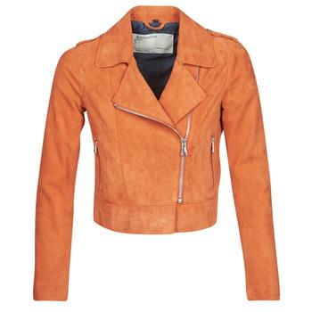 Vêtements Femme Vestes en cuir / synthétiques Oakwood KEREN Rouille Suede