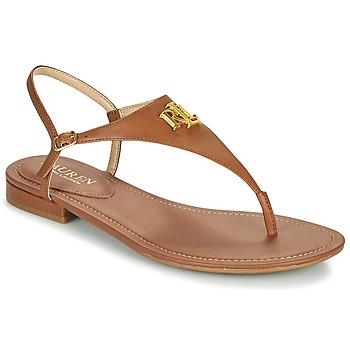 Schuhe Damen Sandalen / Sandaletten Lauren Ralph Lauren ELLINGTON SANDALS CASUAL Kognac