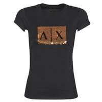 Vêtements Femme T-shirts manches courtes Armani Exchange HONEY Noir