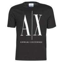 Vêtements Homme T-shirts manches courtes Armani Exchange HULO Noir