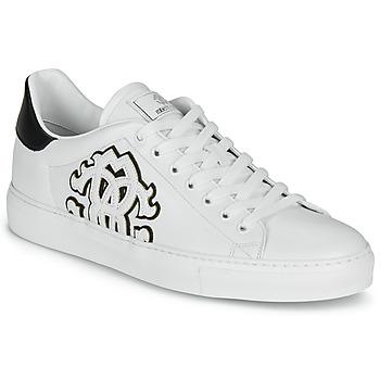 Schuhe Herren Sneaker Low Roberto Cavalli 1005 Weiß