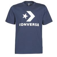 Kleidung Herren T-Shirts Converse STAR CHEVRON TEE Blau