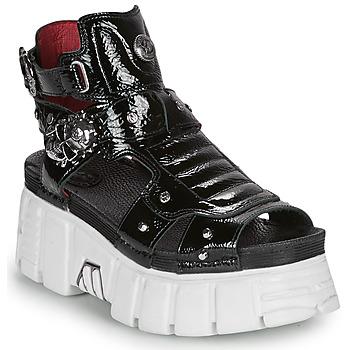 Chaussures Femme Sandales et Nu-pieds New Rock LIYA Noir / Blanc