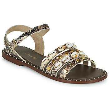 Chaussures Femme Sandales et Nu-pieds Café Noir MIRADO Python