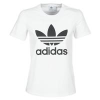 Vêtements Femme T-shirts manches courtes adidas Originals TREFOIL TEE Blanc