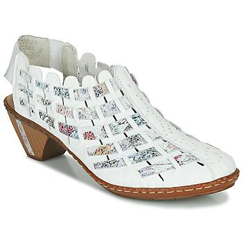 Schuhe Damen Ankle Boots Rieker KANIN Weiß