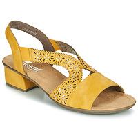 Schuhe Damen Sandalen / Sandaletten Rieker NOUCK Gelb