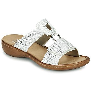 Schuhe Damen Pantoffel Rieker MOLLY Silbrig