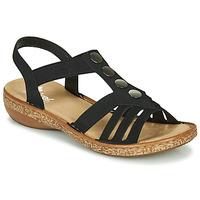 Chaussures Femme Sandales et Nu-pieds Rieker NEX Noir