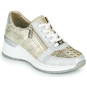 Schuhe Damen Sneaker Low Rieker LEA Golden / Silbrig