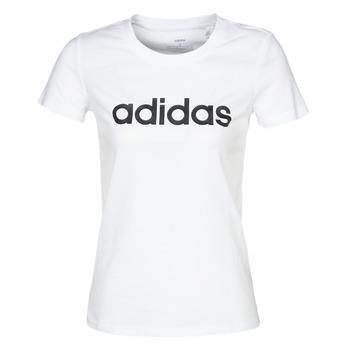 Vêtements Femme T-shirts manches courtes adidas Performance E LIN SLIM T Blanc