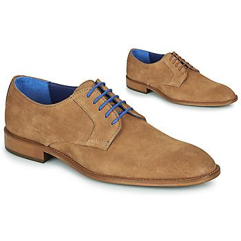 Chaussures Homme Derbies Azzaro ZENOU Cognac