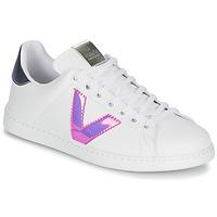 Chaussures Femme Baskets basses Victoria TENIS VINILO Blanc / Bleu