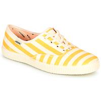 Chaussures Femme Baskets basses Victoria NUEVO RAYAS Blanc / Jaune