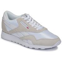 Schuhe Sneaker Low Reebok Classic CL NYLON Weiß / Beige