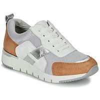 Schuhe Damen Sneaker Low Caprice BEBENE Weiß / Kamel