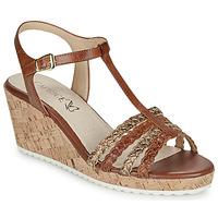 Schuhe Damen Sandalen / Sandaletten Caprice POUDALLE Kognac