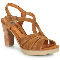 Schuhe Damen Sandalen / Sandaletten Mam'Zelle TIMBA Kognac
