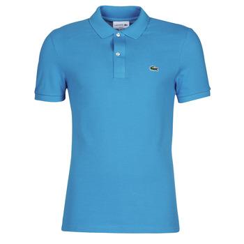 Vêtements Homme Polos manches courtes Lacoste PH4012 SLIM Bleu Turquoise