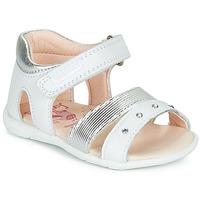 Chaussures Fille Sandales et Nu-pieds Pablosky DINNA Blanc / Argenté
