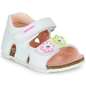 Chaussures Fille Sandales et Nu-pieds Pablosky  Blanc / Rose / Vert