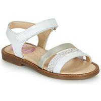 Schuhe Mädchen Sandalen / Sandaletten Pablosky PINNA Weiß / Perlmutt