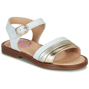 Chaussures Fille Sandales et Nu-pieds Pablosky  Blanc / Doré