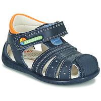 Chaussures Garçon Sandales et Nu-pieds Pablosky  Marine / Orange