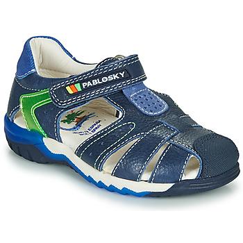 Chaussures Garçon Sandales et Nu-pieds Pablosky  Marine / Vert