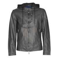 Vêtements Homme Vestes en cuir / synthétiques Guess VINTAGE ECO-LEATHER JKT Noir