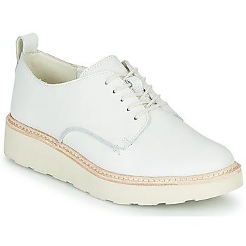Chaussures Femme Derbies Clarks TRACE WALK Blanc