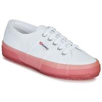 Schuhe Damen Sneaker Low Superga 2750-JELLYGUM COTU Weiß