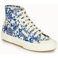 Schuhe Damen Sneaker High Superga 2295-COTFANW Beige / Blau