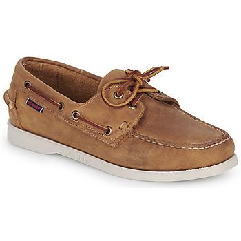 Chaussures Femme Chaussures bateau Sebago DOCKSIDES PORTLAND CRAZY H W Marron