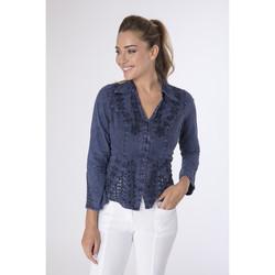 Vêtements Femme Chemises / Chemisiers La Cotonniere CHEMISIER AJUSTE Bleu