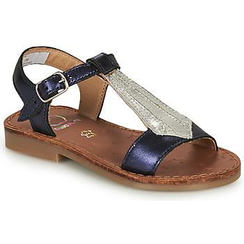 Schuhe Mädchen Sandalen / Sandaletten Shoo Pom HAPPY TIE Blau / Silbrig