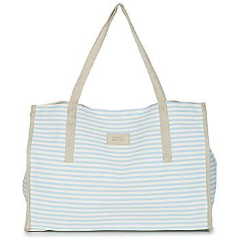 Taschen Damen Shopper / Einkaufstasche Banana Moon ZENON WELINGTON Weiß / Blau