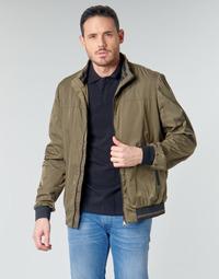 Vêtements Homme Blousons Geox TEVERE BOMBER Vert / Bronze