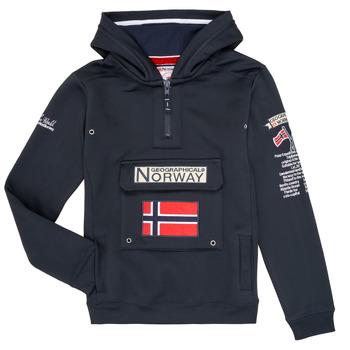 Vêtements Garçon Sweats Geographical Norway GYMCLASS Marine