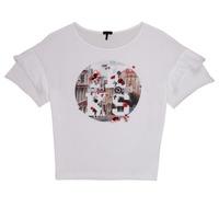 Kleidung Mädchen T-Shirts Ikks DIBILIOU Weiß
