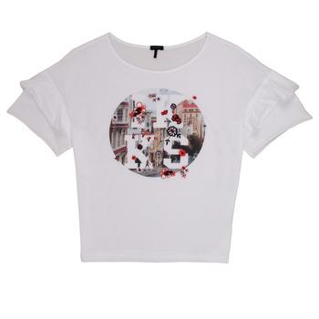 Vêtements Fille T-shirts manches courtes Ikks DIBILIOU Blanc